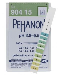 Indicator Paper Pehanon - Range 3.8 to 5.5 pH (200)